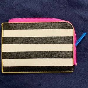 NWOT NEVER USED Sephora stripe pocket wallet pouch